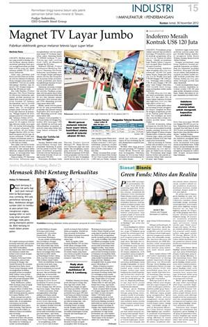 KONTAN Daily 30 Nov 2012