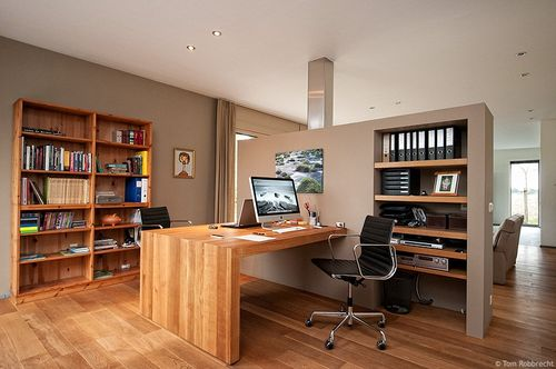 Home office wooden floor